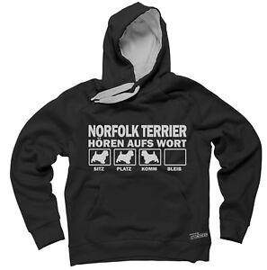 Wort Terrier Aufs Hören Sweatshirt Norfolk Hoodie Siviwonder By vgBnwfw
