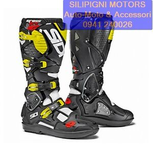 SIDI-CROSSFIRE-3-SRS-BIANCO-NERO-GIALLO-FLUO-Stivali-Moto-Cross-Enduro-Off-Road