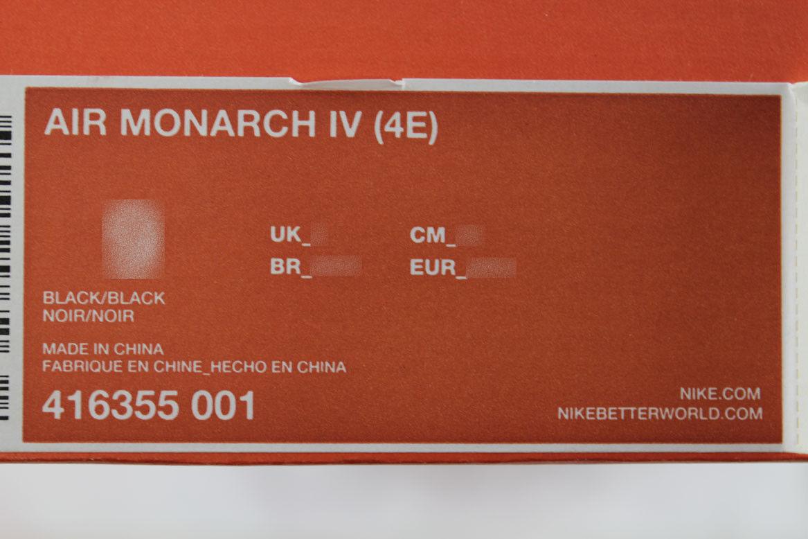 67333374c55de ... NIKE AIR MONARCH IV 4 EXTRA WIDE 4E 4E 4E EEEE TRIPLE BLACK MONO CROSS  TRAINER