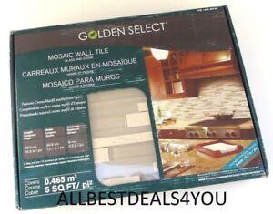 1 Bx 5 Tiles Golden Select Glass Amp Stone Mosaic Wall Tile Corsica 862785
