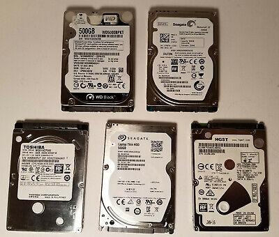 "Western Digital 500GB SATA 2.5/"" 5400 or 7200RPM Laptop Hard Drive Lot of 25"