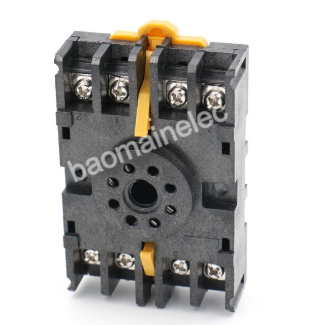 DIN Rail Mount 8PFA 8 Pin Timer Relay Socket Octal Base for ...  Pin Timer Relay Wiring on 8 pin relay plug in, dayton 8 pin relay, 8 pin latching relay, 8-pin ice cube relay, 8 pin control relay, ac power relay, 8 pin octal relay, 8 pin relay socket diagram, dpdt relay, pnr110a crouzet relay, delay relay, 16 pin relay, 220v relay, electrical relay, 8 pin reed relay, 20 pin round socket relay, phase monitor relay, 8 pin relay schematic wiring diagram, 8 pin relay base,