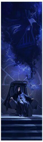 Star Wars Art The Emperor and Vader Force Lightening Artwork A Master of Evil