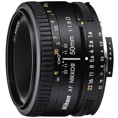 Nikon AF Nikkor 50 mm f/1.8D Lens (With VAT Invoice & Two Year Warranty)
