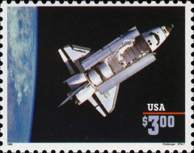 1995 $3 Priority Mail, Challenger Shuttle Scott 2544 Mi