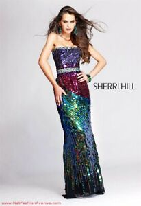 Ever-Pretty Sequin V Neck Long Evening Party Dress Mermaid Prom Ball Gwons 07893