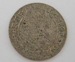 Silber-Muenze-3-Kreuzer-Schlesien-Liegnitz-Brieg-Georg-III-1661-coin-silver