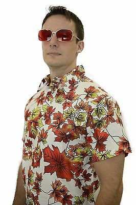MAPLE LEAVES SHIRT Fight Club Tyler Durden Leaf Costume Good Quality S M L XL