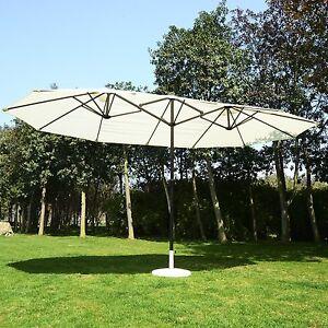 Outsunny-15-039-Outdoor-Twin-Patio-Umbrella-Aluminum-Outdoor-Market-Sun-Shade-Beach