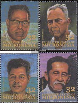 kompl.ausg. Postfrisch 1994 Persönlichkeiten ZuverläSsige Leistung Willensstark Mikronesien 397-400