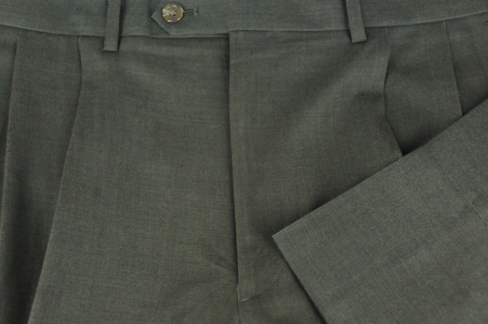 Ralph Ralph Lauren Men's Java Brown Gabardine Pleated Dress Pants 36 x 32