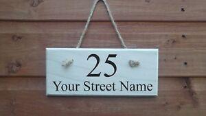 Personalizzato il tuo nome della strada in legno porta casa Ufficio Firmare La Placca in legno da appendere  </span>