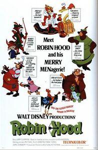 Vintage Disney Robin Hood Movie Poster A3 A2 A1 Print Ebay