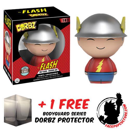 FREE DORBZ PROTECTOR FUNKO DORBZ DC THE FLASH GOLDEN AGE SPECIALTY EXCLUSIVE