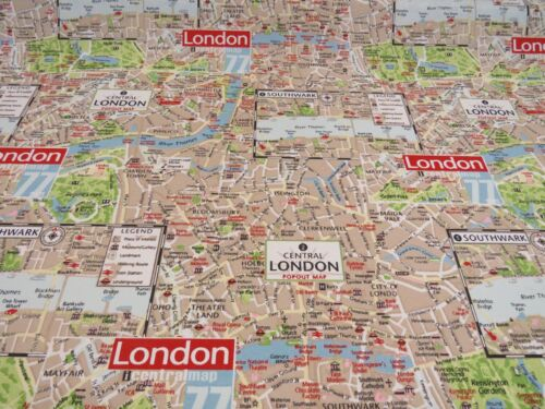London Underground Map Cotton Fabric Curtain Upholstery Quilting Crafts Blinds