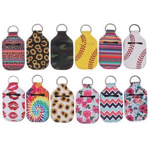 Neoprene Lipstick Holder Keychain Lip Case Storage Bag Key Chain Holder# N_N
