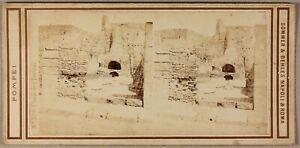 Pompei-Italia-Foto-Sommer-amp-Behles-Stereo-PL55L1n2-Vintage-Albumina-c1865