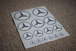 Mercedes-Auto-Fahrzeug-Star-Logo-Emblem-Racing-Tuning-Decal-Sticker