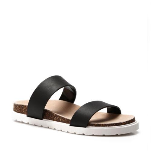 Damen Plateau Sandalen Sommerschuhe Pantoletten Sandaletten Komfort Profilsohle