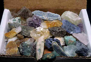 Miniatures-Mineral-Collection-1-2-Lb-Mix-Natural-Gems-Crystals-Specimens