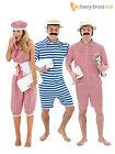 1920s Victorian Bathing Suit Mens Ladies Fancy Dress Adult Swimsuit Swim Costume