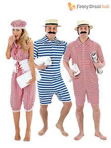 1920s-Victorian-Bathing-Suit-Mens-Ladies-Fancy-Dress-Adult-Swimsuit-Swim-Costume