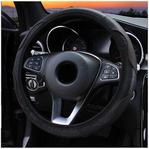 Universal-Auto-Lenkradhuelle-Lenkrad-Abdeckung-Lenkradbezug-Mikrofaser-Lede