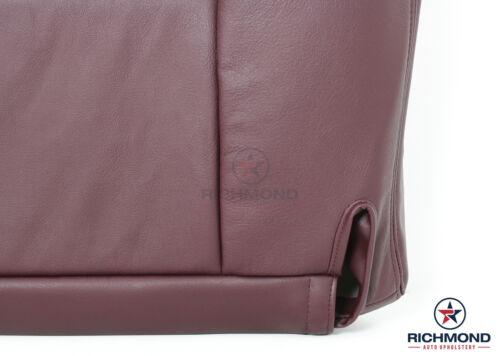1996 1997 1998 GMC Sierra C//K 2500 SLT SLE Driver Bottom Leather Seat Cover RED