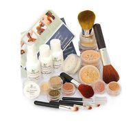 22 Xlg Mineral Makeup Kit Tan Flawless Bare Skin Kabuki Brush Sheer Finish
