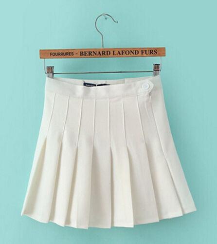 Gril Preppy High Waist Slim Ball Tennis Pleated Skirt Mini Short Skirt 8 colors