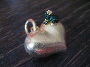 zauberhafter-Herz-Anhaenger-vollplastisch-Frosch-Froschkoenig-925er-Silber-gold
