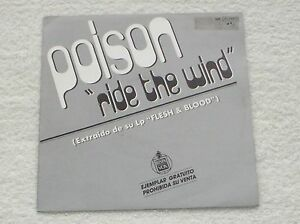 POISON-RIDE-THE-WIND-RARE-034-PROMO-034-SPANISH-ISSUE-7-034