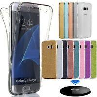 Shockproof 360° Silicone Protective Clear Case Cover Bling Samsung Galaxy Phones