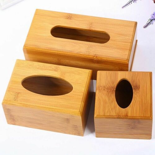 Plain Wooden Tissue Box Cover Wood Holder Car Home Paper Storage Trendy SELL