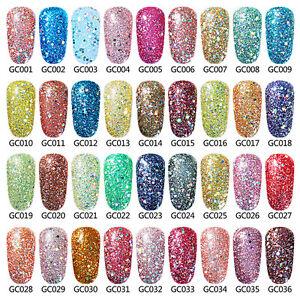 Elite99 Glitter Color Gel Nail Polish Soak Off Uv Led Manicure Top