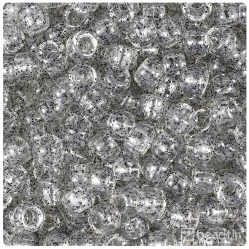 *3 FOR 2* 100 x Crystal Black Sparkle 9x6mm Barrel Highest Quality Beads