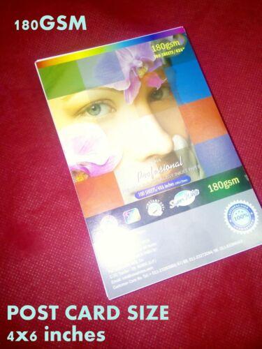 100 x  4x6 inchs Postcard size GLOSS PHOTO PAPER     PROFESSIONAL GLOSSY