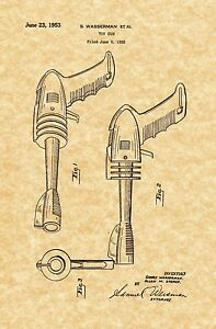 Ready To Be Framed! Pistol Style Fire Extinguisher 1925 Patent Print