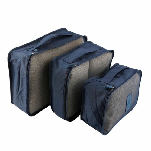 6pcs//Set Waterproof Clothes Storage Bag Packing Cube Travel Luggage Organizer FP