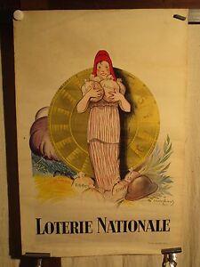 Details Sur Affiche Ancienne Loterie Nationale Marianne Roue Fortune