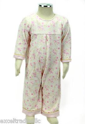 JACADI Girls Alarme Multi-Color Floral Long Sleeve Jumpsuit Sz 3 Months NWT $54