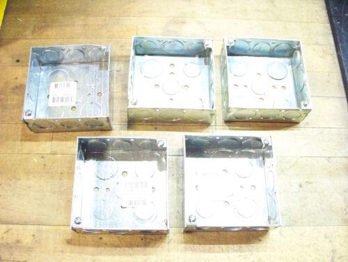 5 new RACO square electrical conduit connection box 6XC65 grainger 4 x 1.5 189