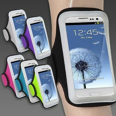 MEDIUM Sports Workout Running Armband Cover Case for Samsung Galaxy Smart Phones