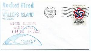 1972 Wallops Island Rocket Fired Japanese Mt-135 F-i5928 Wff Goddard Base Nasa