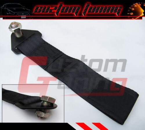 BLACK AE86 FT 86 CELICA MR2 SPYDER GTS TRACKDAY HEAVY DUTY BUMPER TOW STRAP