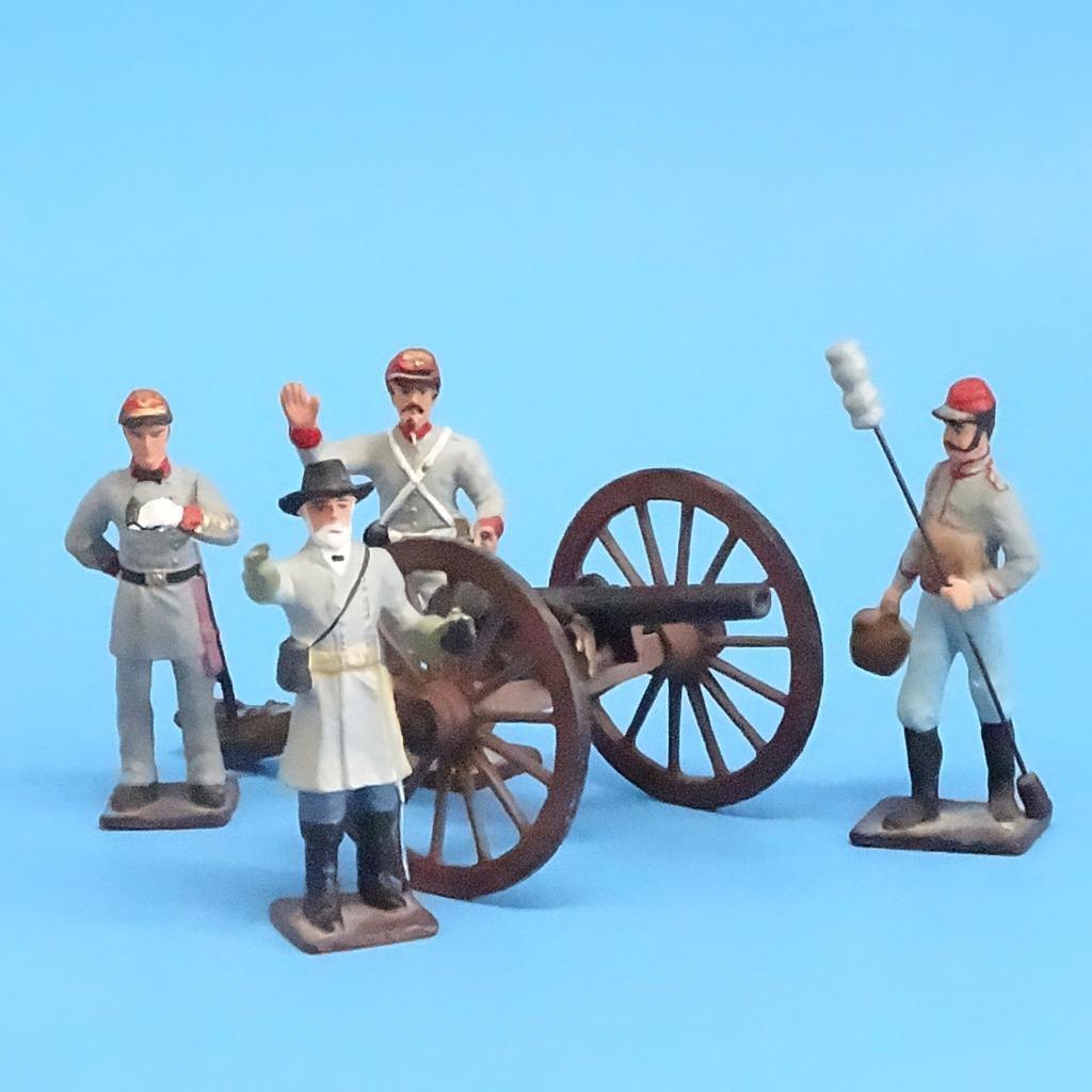 CORD-3040 - Confederate Artillery Crew (4 Figures) and Gun (Unknown Manufacturer