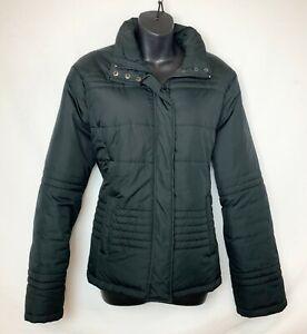 New-York-amp-Company-Women-039-s-Black-Puffer-Jacket-w-Snap-amp-Zip-Close-2-Pkt-Sz-XL