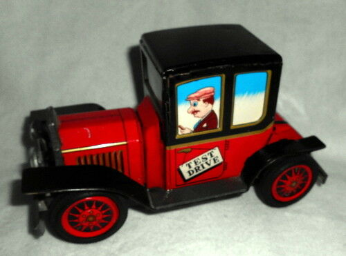 Vintage FRICTION FRICTION FRICTION Tin Toy Car Test Drive DAIYA JAPAN 1960s Great Lithography  ca80ba