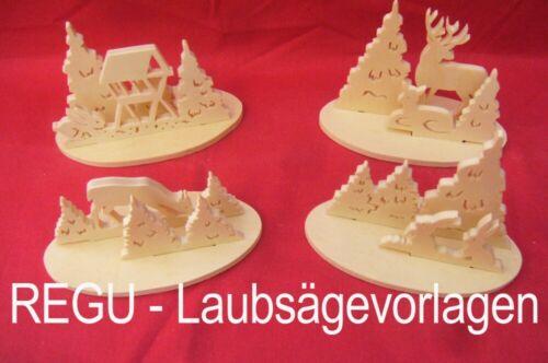"""Weihnachtsaufsteller Laubsägevorlagen N027 /""""erzgeb + REGU selber basteln/""""dd"""