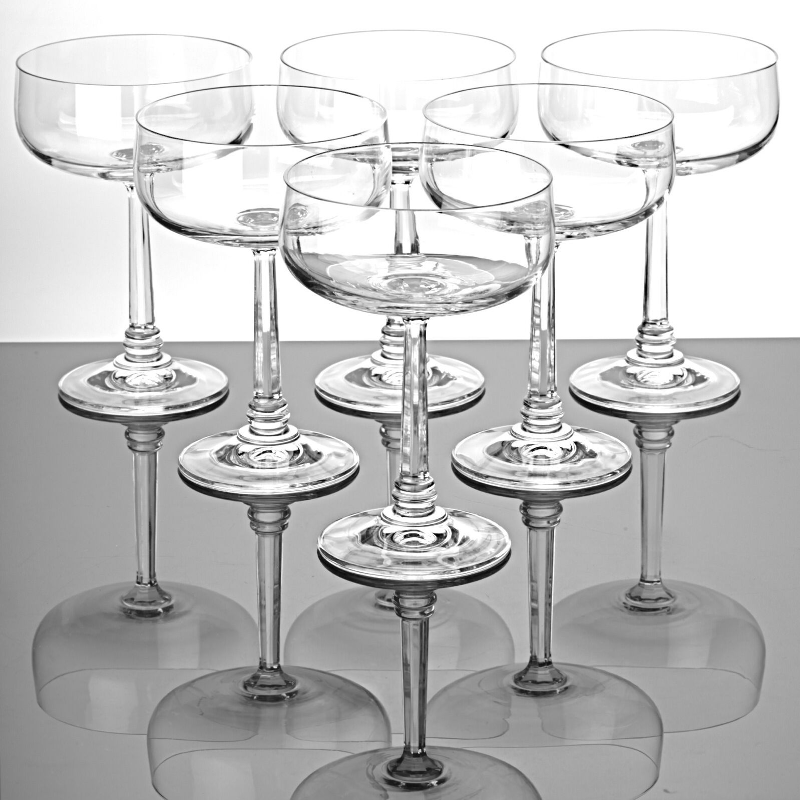 6 Sektschalen Champagnerschalen Champagnerschalen Champagnerschalen Sektgläser Kristall Gläser Dessertgläser | Neuer Stil  0c9ff1